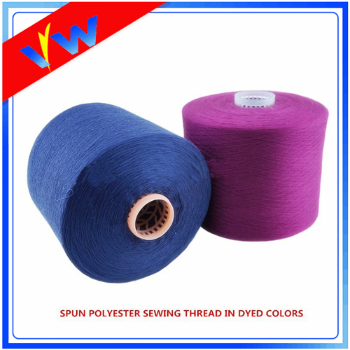 dyed polyester yarn for sewing thread