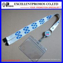 Cordons à col roulé personnalisés bon marché avec porte-cartes (EP-Y581417)