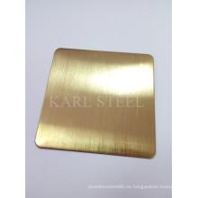 Hoja de color de acero inoxidable de alta calidad 430 para materiales de decoración