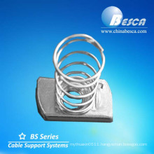 Hot Dip Galvanizing Long Channel Nut with Spring