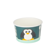 Hot sales logo printed pe coated 3oz ice cream paper cups with lid spoon