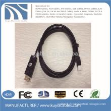 Câble Mini DP à HDMI Câble à mâle nickel à l'or