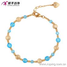 74318 Xuping top vente perles en plastique élégantes, personnalisé fermoir magnétique bracelet de perles d'or