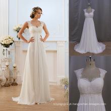 (mm008) beleza nupcial fábrica vestido de noiva boêmio