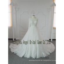 Western trägerlosen Korsett Bridal A Line Long Sleeves Hochzeitskleid