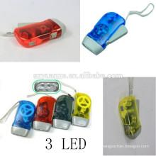 hand crank generator hand dynamo flashlight, dynamo led flashlight, hand pressing flashlight