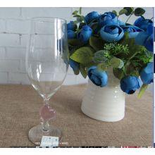 Copo de vidro de cálice de borosilicato para decoração de casa do casamento