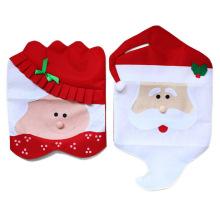 Housse de chaise de décoration de Noël Housse de chaise de salle à manger Antimacassar