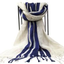 Bufanda larga de lino