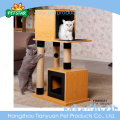 Eco-Friendly Cat Scratching Tree Post Wooden Cat Tree