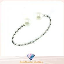 Хорошее качество Розовое золото CZ 925 Серебряный браслет (G41273)