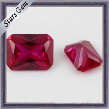 Venta caliente bajo precio rectángulo sintético forma Ruby