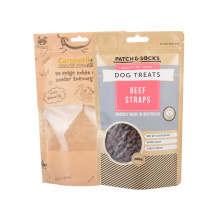 Custom Printed Kraft Paper Bag with Oral Window Clear for Tea Snack Food Packaging Stand up Pouch Bag