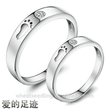 New Design Zircon Footsteps Of Love Couple anneaux