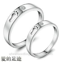 New Design Zircon Footsteps Of Love Couple rings