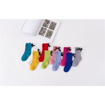 Fashion Sweet Girl Socks Candy Colors with Bow Beatifual Cotton Socks Colors Customized