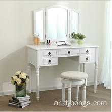 Vietnam made white vanity cheap modern dressing table designs