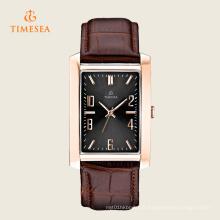 Montre-bracelet en forme de carré classique en acier inoxydable à quartz 72274