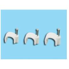 Белые зажимы для коаксиального кабеля / Круглый зажим для кабеля для ногтей