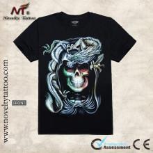 Y-100205 Modelo Alarming - t-shirt luminoso do tatuagem Camiseta