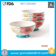 Pioneer Woman-Set of 4 Bloom Dots Footed Bowls