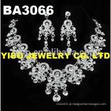 Conjunto de jóias de casamento de prata