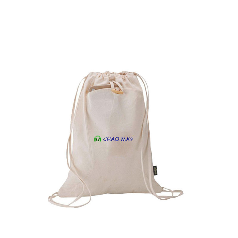 white economic cotton bags for gift packaging