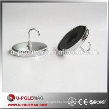 Super Strong Zn Coating Ferrite Magnet Rare Earth Magnet with Hook