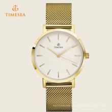 Luxus-Edelstahl-Armbanduhr-Mann-Frauen-Quarz passt 72226 auf
