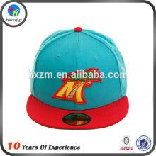 Factory made short brim snapback hat/cap with printing logos