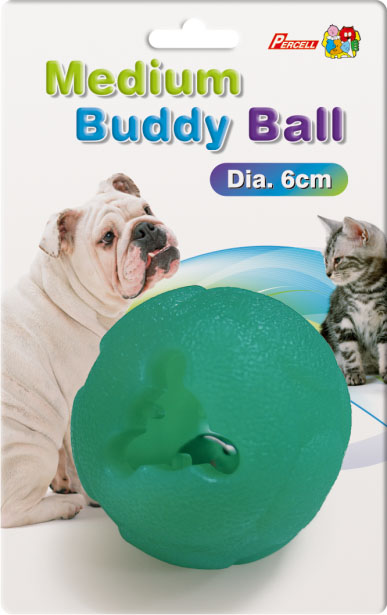 Percell Medium Buddy Ball Durable Treat Dispensing Toy
