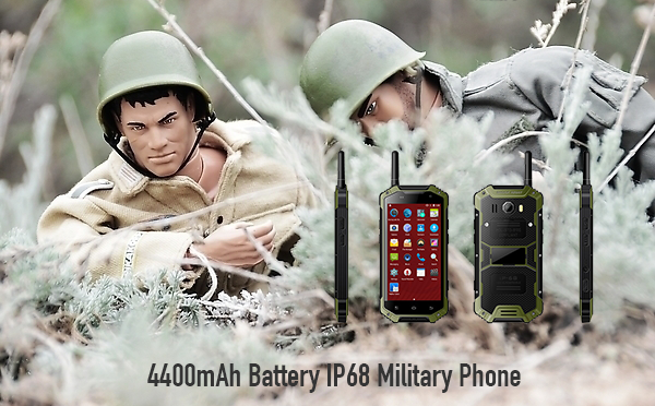 4400mAh Battery IP68 Military Phone