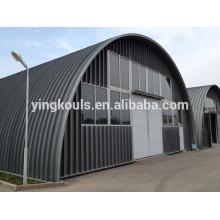 914-610 240 Hoja Arch K Hoja de Construcción de Hangar sin Bastidor Formando Máquina