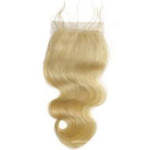 new premium stock body wave 4x4 hair piece lace closure blonde