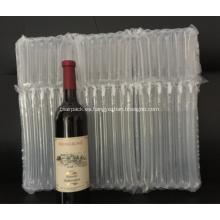 Bolsa inflable de embalaje de aire para tres botellas de vino