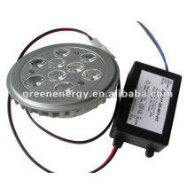11W G53 AR111 Downlight LED regulable con conductor exterior