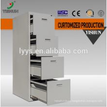 Vertical 4 drawer storage steel file cabinet