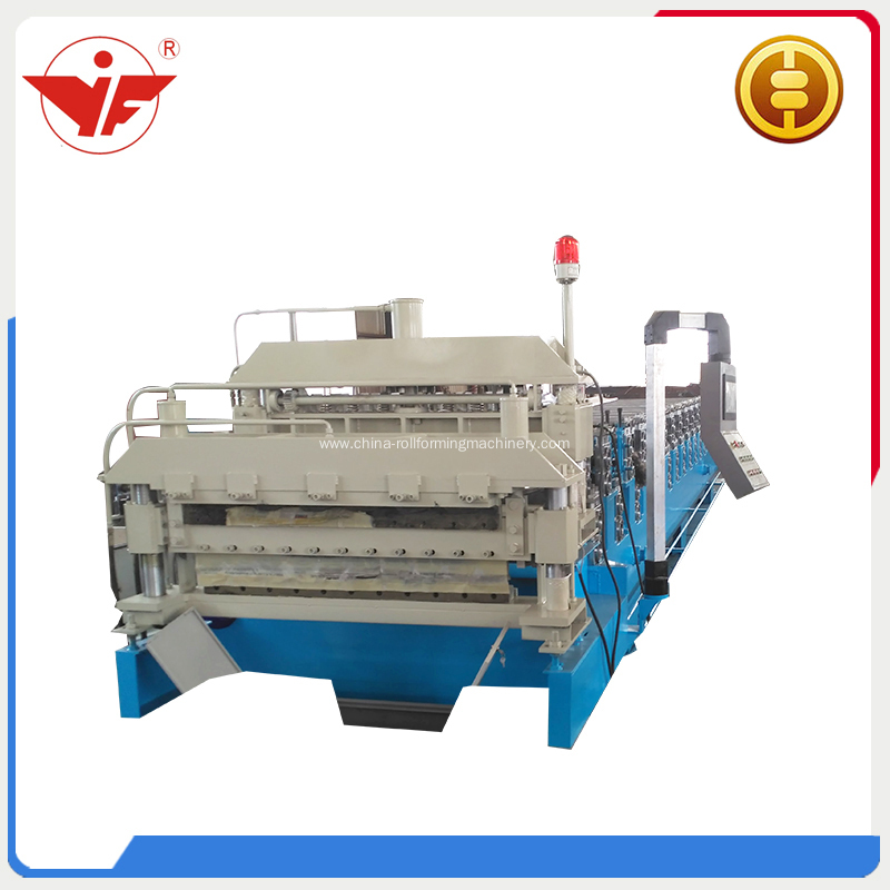 Roof double layer roll forming machine