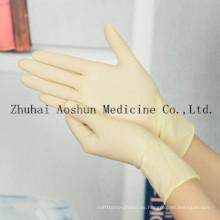Guantes de látex quirúrgicos de un solo uso para la operación