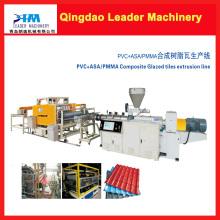 Máquina para fabricar láminas para techos de PVC + PMMA / Asa
