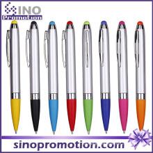 Click Ballpoint Pen with Rubber Tip Touch Pen Ball Pen