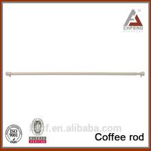 Barra de café superior del diseño, barra de cortina ajustable barata de la ducha, barra telescópica del café del resorte