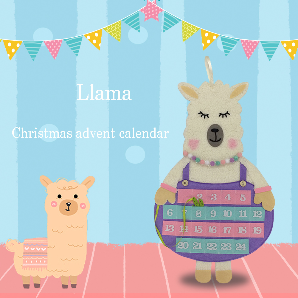 llama christmas countdown advent calendar