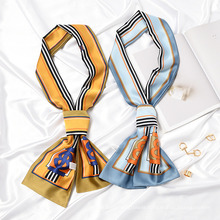 Garments Accessories Lady Silk Scarf Necktie in Stock, Fashion New Design Custom Logo Scarf