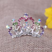 Enfants Crystal Crown avec peigne strass Tiara peigne pour la fête