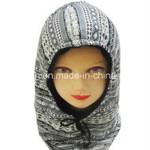 Fashion Fleece Warm Hat Autumn and Winter Pattern Hooded Outdoor Warm Wind Cap