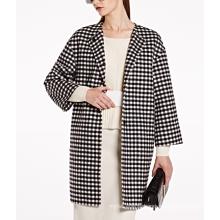 17PKCSC016 women double layer 100% cashmere wool coat