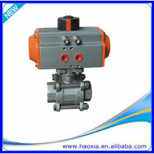 2016 Stainless Steel 304 Pneumatic Ball valve with pneumatic actuator