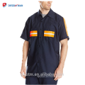 Hola Vis Poliéster Camisa de manga larga de algodón Camisa de alta visibilidad Visibilidad de seguridad Uniforme Reflectante al por mayor