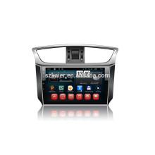 Kaier usine -Quad core tactile complet Android 4.4.2 voiture dvd pour Sylphy + OEM + 1024 * 600 + lien miroir + TPMS